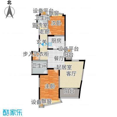 河滨围城(二期)房型面积段户型2室2卫1厨