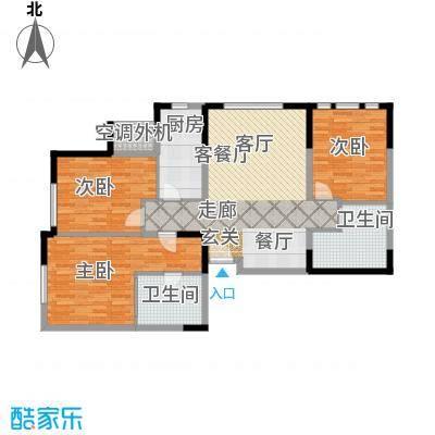 中冶昆庭112.00㎡3房户型 3房2厅2卫1厨 112.00㎡户型3室2厅2卫