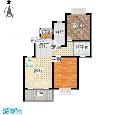 康悦亚洲花园K户型2室1卫1厨