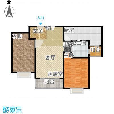 康悦亚洲花园G户型2室1卫1厨