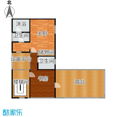 明园森林都市114.75㎡12#二层平面图户型10室