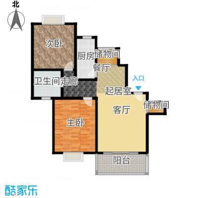 康悦亚洲花园J户型2室1卫1厨