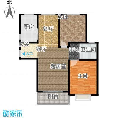 康悦亚洲花园B1B2户型2室1卫1厨