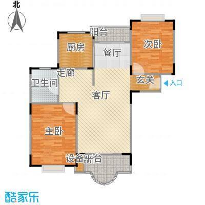 盛和玲珑88.96㎡房型: 二房; 面积段: 88.96 -110.75 平方米;户型