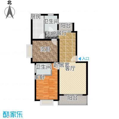 康悦亚洲花园房型户型2室2卫1厨
