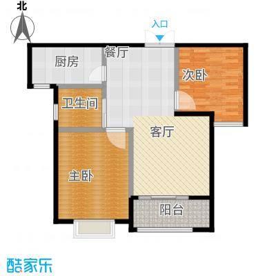 中星馨恒苑G2户型2室1卫1厨