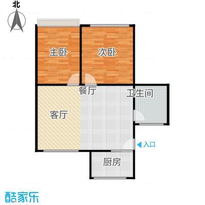 感性达利2室1厅1卫74平米南北通户型