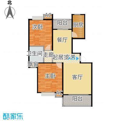 大华阳城花园(七期)90.00㎡二房二厅一卫-95.42平方米-14套-闸北房地(2009)预字0196号户型