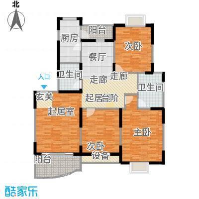 现代星洲城一期129.46㎡房型户型