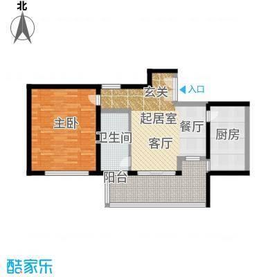 黄浦逸城C户型1室1卫1厨
