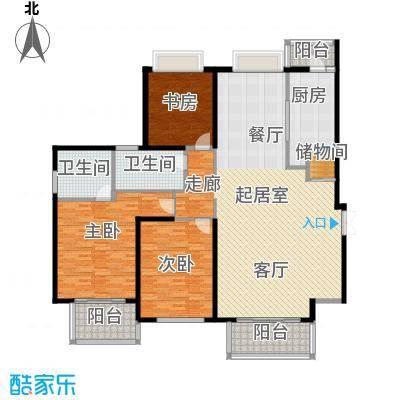 黄浦逸城E户型3室2卫1厨