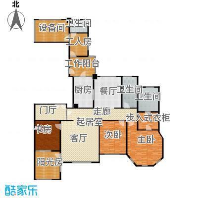 华润外滩九里3房2厅2卫 245平方米户型