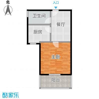中福浦江汇A2户型1室1厅1卫1厨