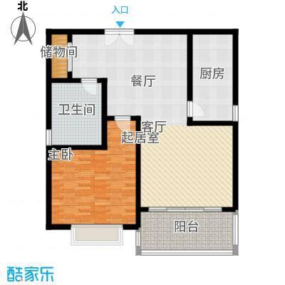黄浦逸城F户型1室1卫1厨