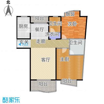 滨江名人苑100.00㎡房型: 二房; 面积段: 100 -120 平方米; 户型