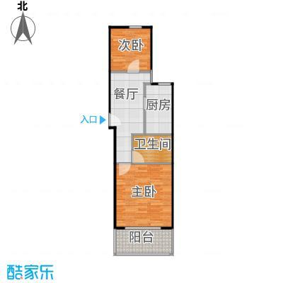 中福浦江汇A1户型2室1厅1卫1厨