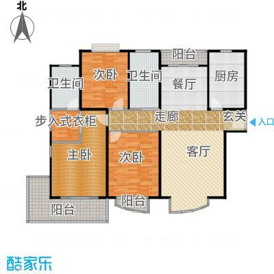 滨江名人苑140.00㎡房型: 三房; 面积段: 140 -150 平方米; 户型