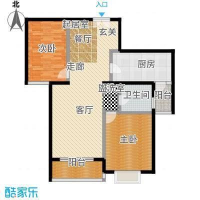绿地名人坊100.00㎡房型: 二房; 面积段: 100 -110 平方米; 户型