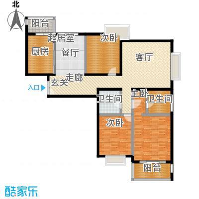 绿地名人坊120.00㎡房型: 三房; 面积段: 120 -160 平方米; 户型