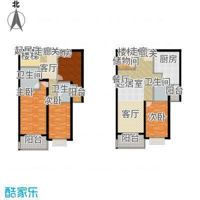 黄浦众鑫城二期230.00㎡房型: 四房; 面积段: 230 -240 平方米; 户型