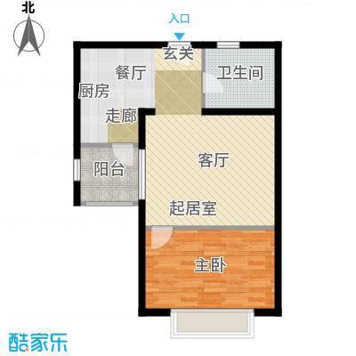 黄浦众鑫城二期60.00㎡房型: 一房; 面积段: 60 -70 平方米; 户型