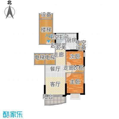 海洲丽园一期二期90.77㎡房型: 二房; 面积段: 90.77 -112.61 平方米; 户型
