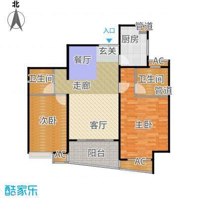 蓬莱家园(5号楼)93.79㎡房型: 二房; 面积段: 93.79 -110 平方米; 户型