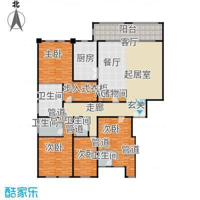 翠湖天地御苑290.00㎡房型: 四房; 面积段: 290 -300 平方米; 户型