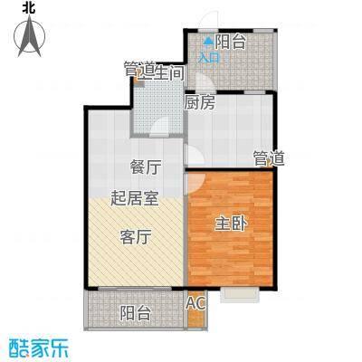 桃源兴城苑(二期)东块64.79㎡房型: 一房; 面积段: 64.79 -68.17 平方米;户型