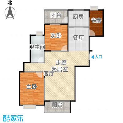 桃源兴城苑(二期)东块92.02㎡房型: 二房; 面积段: 92.02 -137 平方米;户型