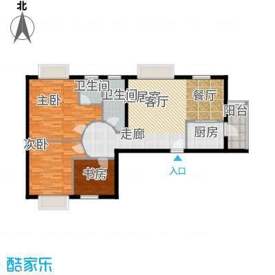 大同花园四期两室两厅一卫121平米户型