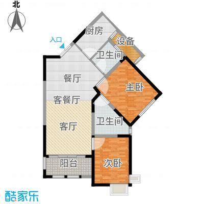 尚海湾豪庭户型2室1厅2卫1厨