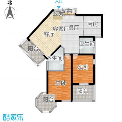 尚海湾豪庭房型户型2室1厅2卫1厨