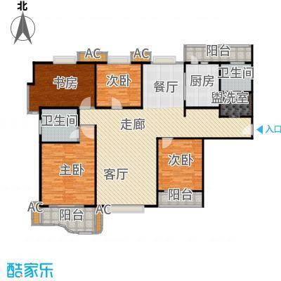 天际花园三期170.00㎡房型: 四房; 面积段: 170 -170 平方米; 户型