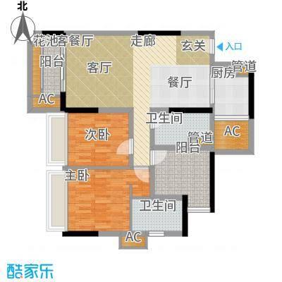 乐湾首府92.75㎡3、4栋3、4号房户型