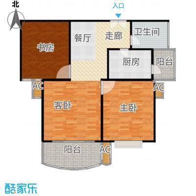 天际花园三期96.00㎡房型: 二房; 面积段: 96 -96 平方米; 户型