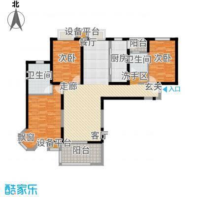 徐汇临江豪园130.00㎡房型: 三房; 面积段: 130 -140 平方米; 户型