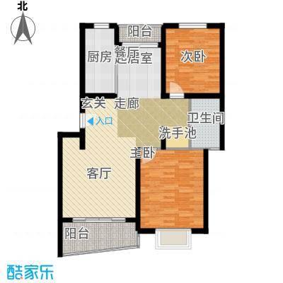绿邑新境86.00㎡房型: 二房; 面积段: 86 -103 平方米; 户型