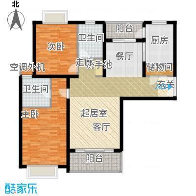 中华门大厦两室两厅两卫119平户型