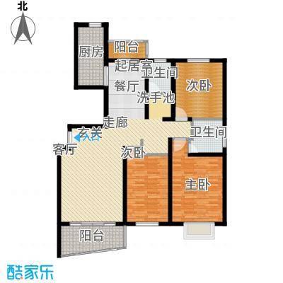 绿邑新境119.00㎡房型: 三房; 面积段: 119 -132 平方米; 户型