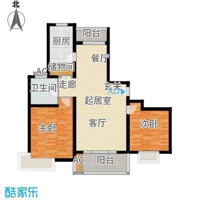 永新花苑三期2室2厅1卫106平米全南户型