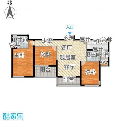 永新花苑三期140.00㎡房型: 三房; 面积段: 140 -150 平方米;户型