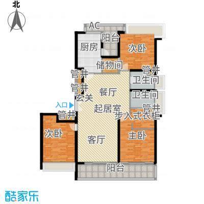 永新花苑三期170.00㎡房型: 三房; 面积段: 170 -180 平方米;户型