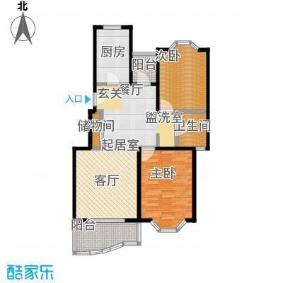 鑫龙苑二期82.00㎡房型: 二房; 面积段: 82 -109 平方米; 户型