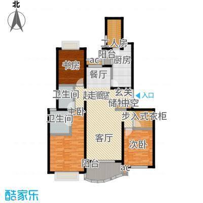 虹桥乐庭三期150.00㎡房型: 三房; 面积段: 150 -160 平方米; 户型