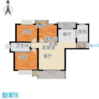汇京佳丽园125.00㎡房型: 三房; 面积段: 125 -146 平方米; 户型