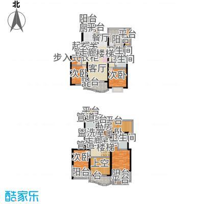 虹桥乐庭三期220.00㎡房型: 复式; 面积段: 220 -240 平方米; 户型