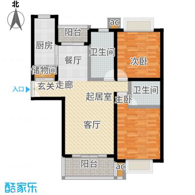 汇京佳丽园95.00㎡房型: 二房; 面积段: 95 -109 平方米; 户型