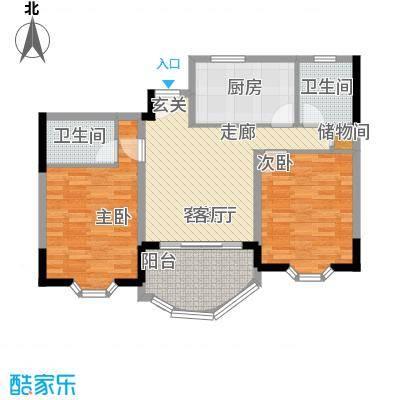 鑫龙苑一期81.00㎡房型: 二房; 面积段: 81 -106 平方米;户型