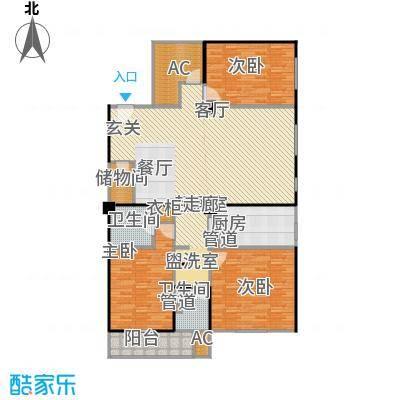 高欣公寓184.56㎡房型: 四房; 面积段: 184.56 -184.56 平方米; 户型